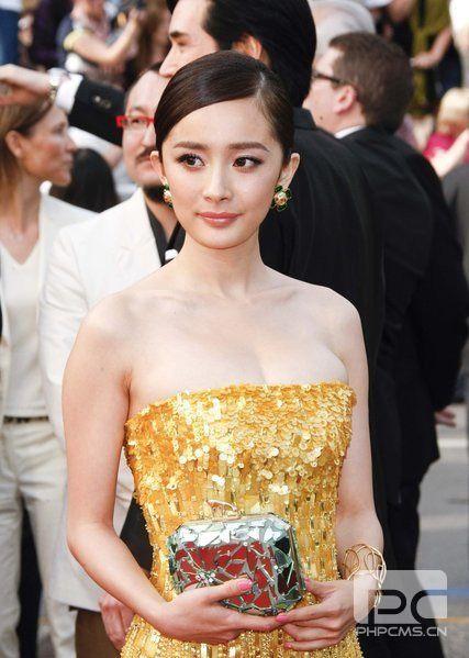 《锈与骨》首映 杨幂黄色低胸裙PK郝蕾深V透视装(3)